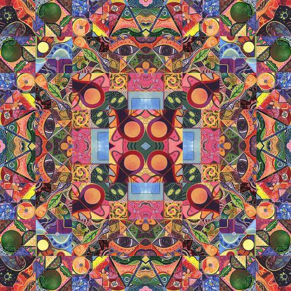 Digital Art - The Joy Of Design Mandala Series Puzzle 2 Arrangement 1 by Helena Tiainen