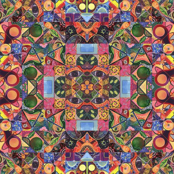 Digital Art - The Joy Of Design Mandala Series Puzzle 2 Arrangement 2 by Helena Tiainen