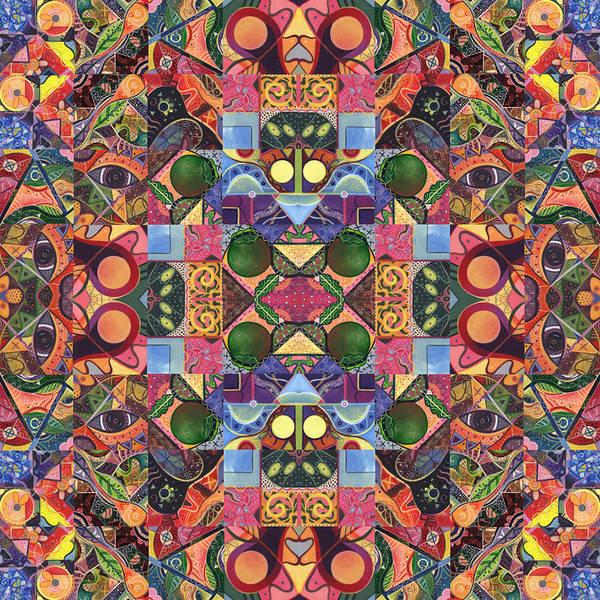 Digital Art - The Joy Of Design Mandala Series Puzzle 2 Arrangement 4 by Helena Tiainen