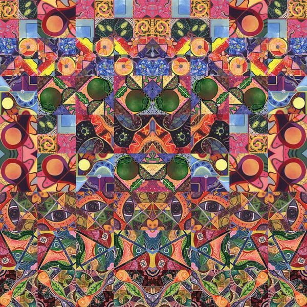Digital Art - The Joy Of Design Mandala Series Puzzle 2 Arrangement 6 by Helena Tiainen