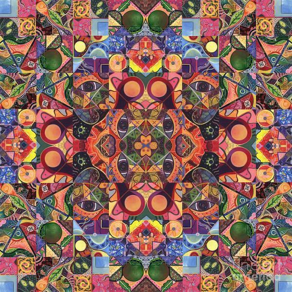 Digital Art - The Joy Of Design Mandala Series Puzzle 2 Arrangement 7 by Helena Tiainen