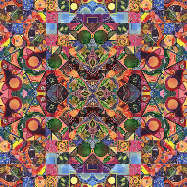 Digital Art - The Joy Of Design Mandala Series Puzzle 2 Arrangement 8 by Helena Tiainen