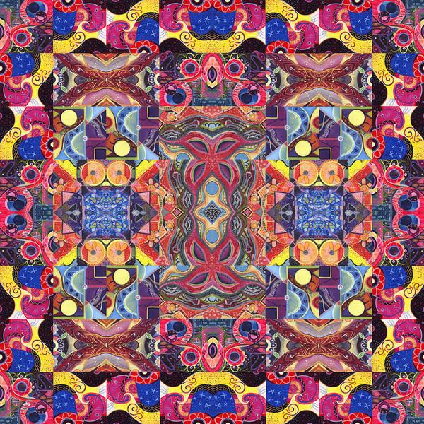 Painting - The Joy Of Design Mandala Series Puzzle 3 Arrangement 1 by Helena Tiainen