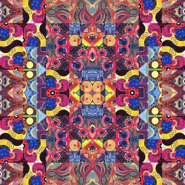 Painting - The Joy Of Design Mandala Series Puzzle 3 Arrangement 3 by Helena Tiainen