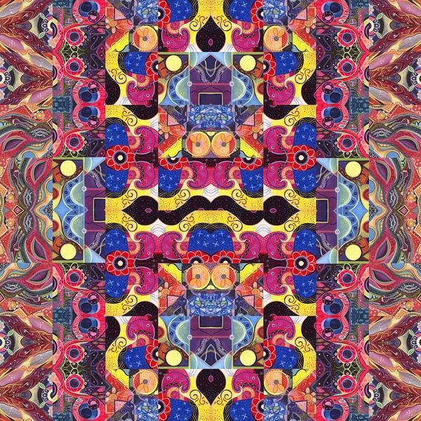 Mixed Media - The Joy Of Design Mandala Series Puzzle 3 Arrangement 4 by Helena Tiainen