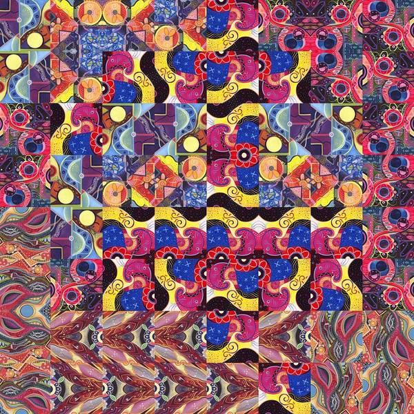 Painting - The Joy Of Design Mandala Series Puzzle 3 Arrangement 8 by Helena Tiainen