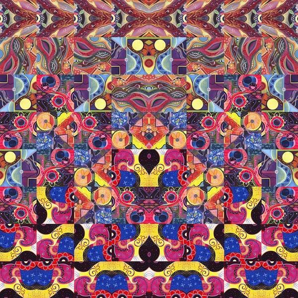 Digital Art - The Joy Of Design Mandala Series Puzzle 3 Arrangement 9 by Helena Tiainen