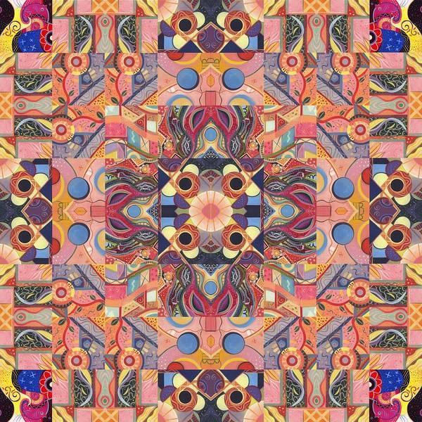 Painting - The Joy Of Design Mandala Series Puzzle 4 Arrangement 1 by Helena Tiainen