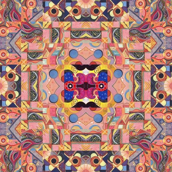 Painting - The Joy Of Design Mandala Series Puzzle 4 Arrangement 2 by Helena Tiainen