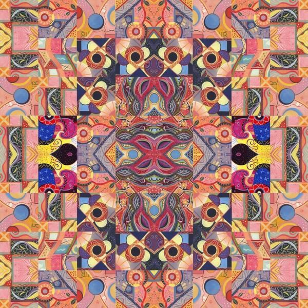 Painting - The Joy Of Design Mandala Series Puzzle 4 Arrangement 5 by Helena Tiainen