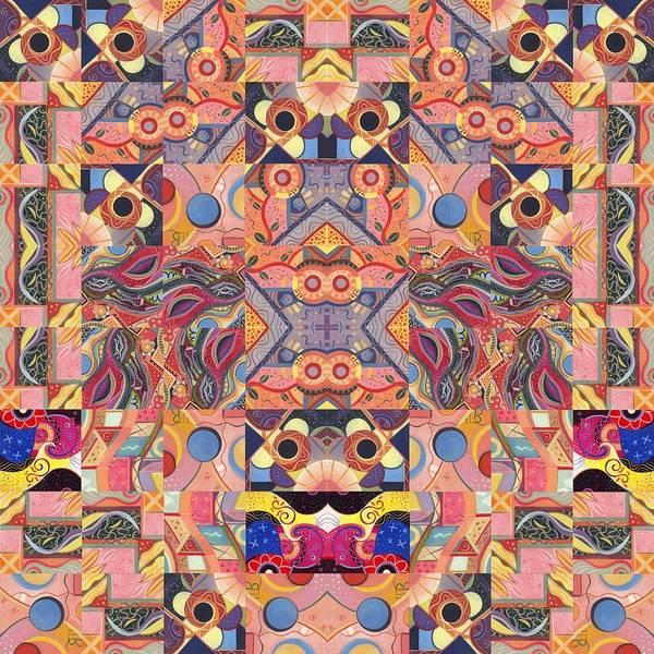 Painting - The Joy Of Design Mandala Series Puzzle 4 Arrangement 6 by Helena Tiainen