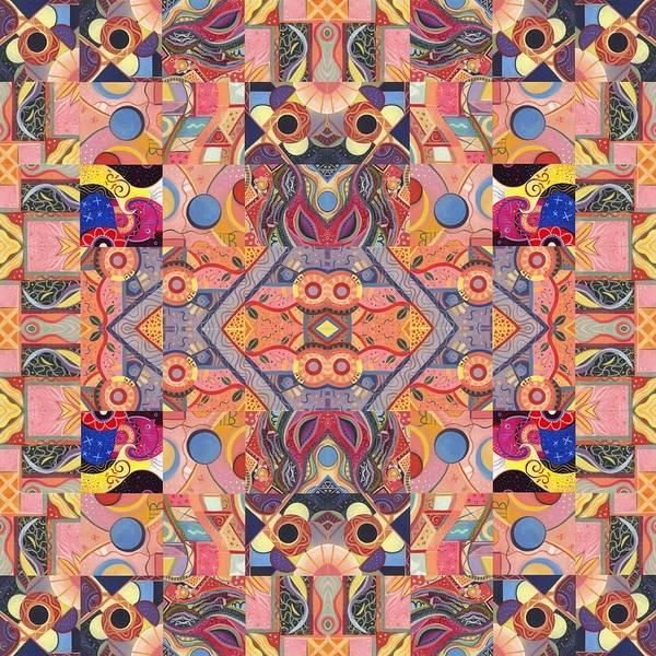 Painting - The Joy Of Design Mandala Series Puzzle 4 Arrangement 8 by Helena Tiainen