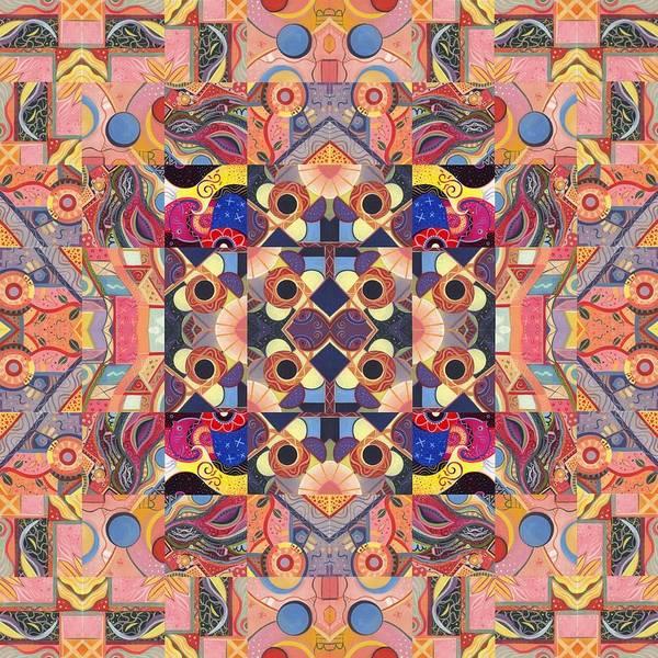 Painting - The Joy Of Design Mandala Series Puzzle 4 Arrangement 9 by Helena Tiainen