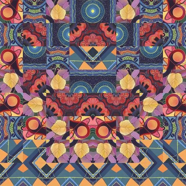 Painting - The Joy Of Design Mandala Series Puzzle 5 Arrangement 1 by Helena Tiainen