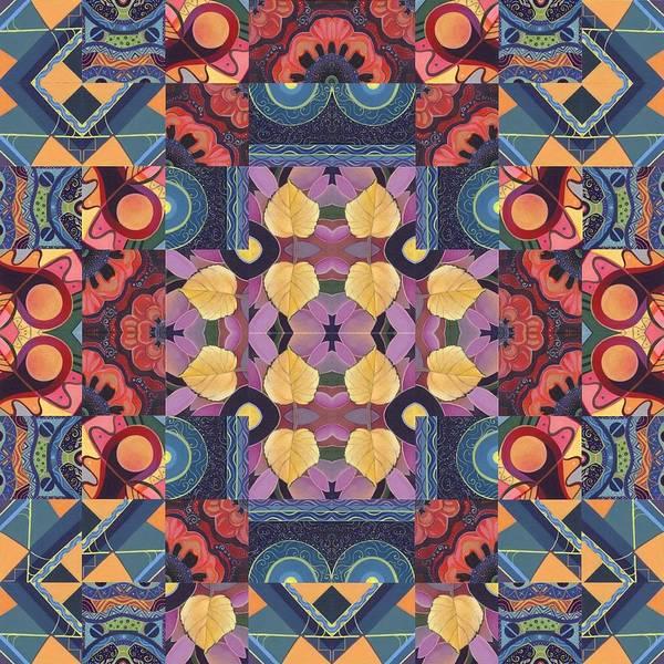 Painting - The Joy Of Design Mandala Series Puzzle 5 Arrangement 2 by Helena Tiainen