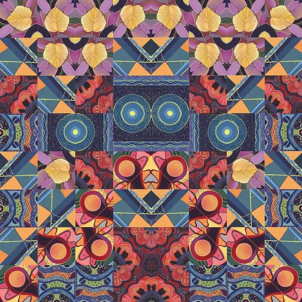 Painting - The Joy Of Design Mandala Series Puzzle 5 Arrangement 4 by Helena Tiainen