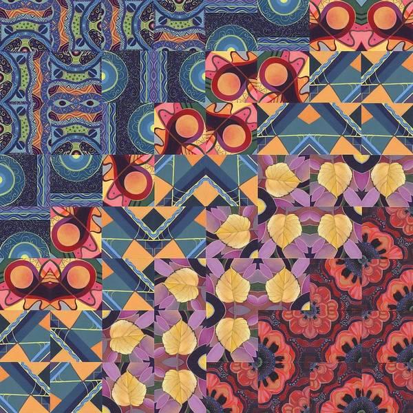 Painting - The Joy Of Design Mandala Series Puzzle 5 Arrangement 5 by Helena Tiainen