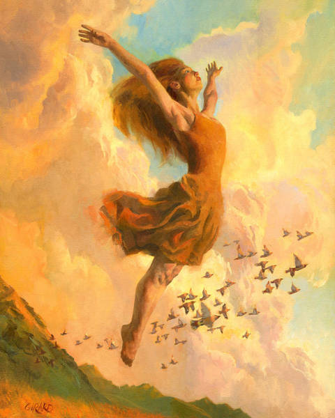 Ballet Painting - The Joy Of Life Small by Francois Girard
