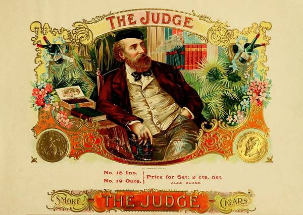 Painting - The Judge Vintage Cigar Advertisement by Movie Poster Prints