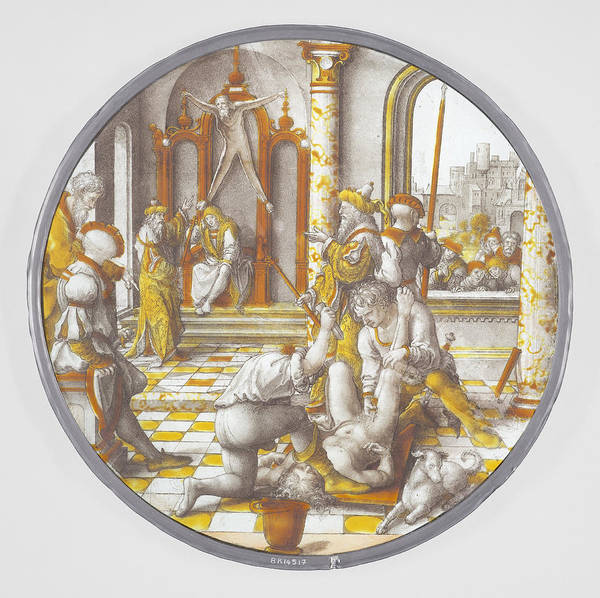 Judgement Wall Art - Drawing - The Judgement Of Cambyses, Dirck Vellert by Quint Lox