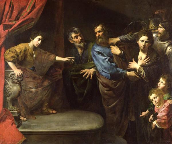 Elder Photograph - The Judgement Of Daniel Or, The Innocence Of Susanna Oil On Canvas by Valentin de Boulogne