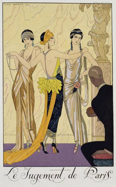 Judgement Wall Art - Painting - The Judgement Of Paris by Georges Barbier