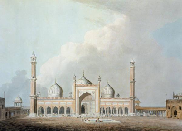 India Drawing - The Jummah Musjed, Delhi, Plate Xxiii by Thomas Daniell