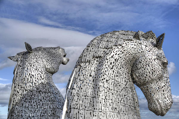 Photograph - The Kelpies by Ross G Strachan