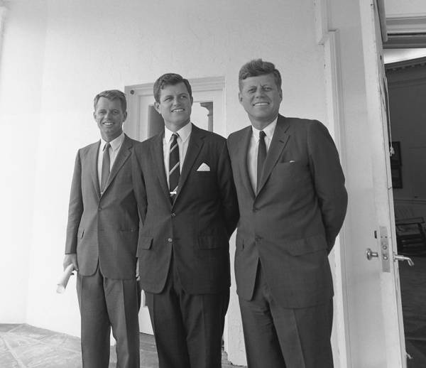 President Photograph - The Kennedy Brothers by War Is Hell Store