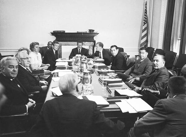 Attending Wall Art - Photograph - The Kerner Commission by Underwood Archives