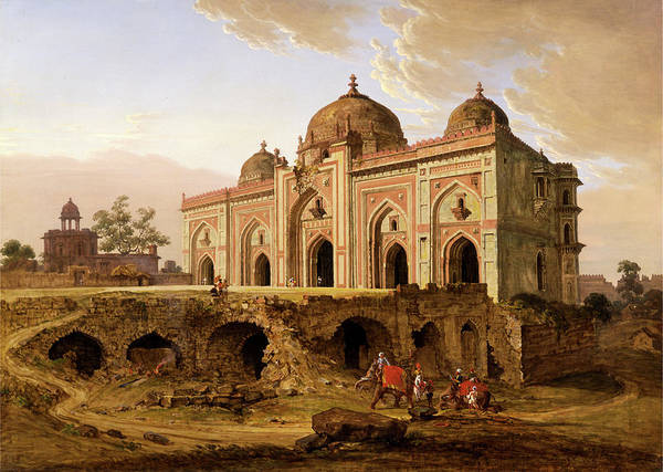 Wall Art - Painting - The Kila Kona Masjid, Purana Qila, Delhi by Litz Collection