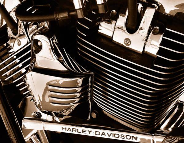 Photograph - The King - Harley Davidson Road King Engine by Steven Milner