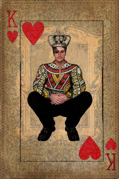 Regal Digital Art - The King Of Hearts by Terry Fleckney