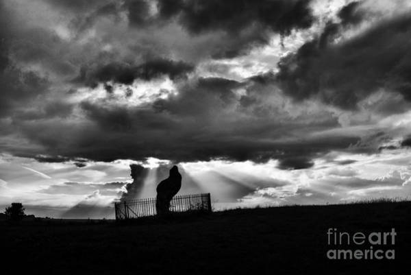 Belief Photograph - The King Stone And Storm Clouds by Tim Gainey