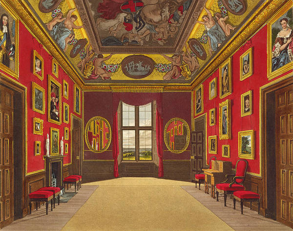 Ceiling Painting - The Kings Closet, Windsor Castle by Charles Wild