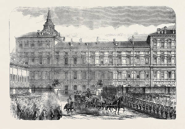 Wall Art - Drawing - The Kings Palace Turin by English School