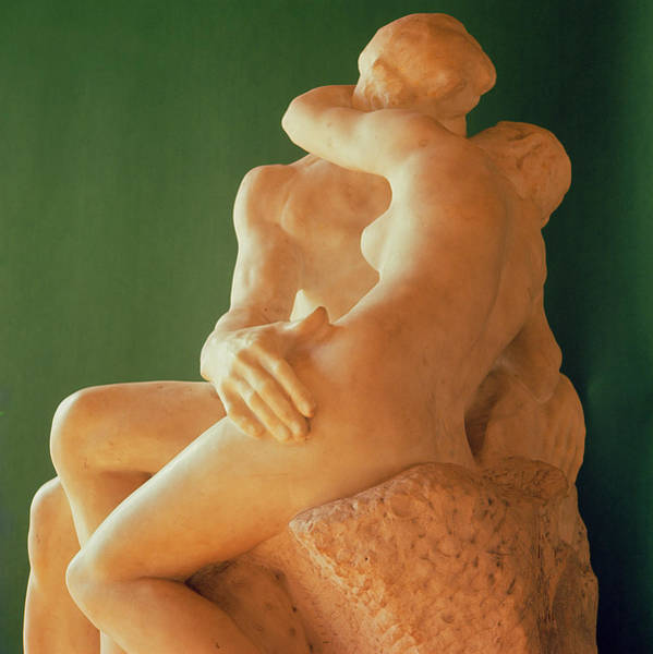 Passionate Photograph - The Kiss by Auguste Rodin