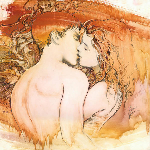 Painting - The Kiss by Anna Ewa Miarczynska