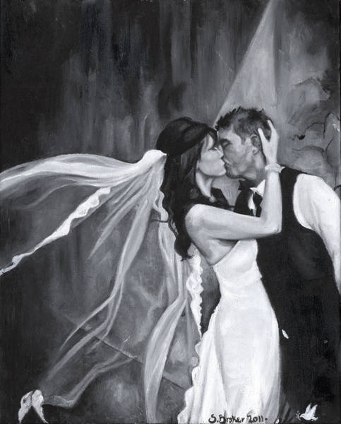Painting - The Kiss by Stephanie Broker
