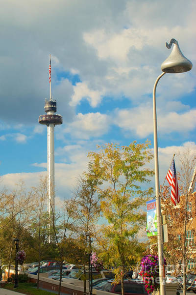 Photograph - The Kissing Tower And Observation Booth And Hershey's Kiss Street Light by Mark Dodd
