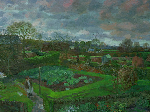 Vegetable Patch Wall Art - Painting - The Kitchen Garden In Autumn by Stephen Harris
