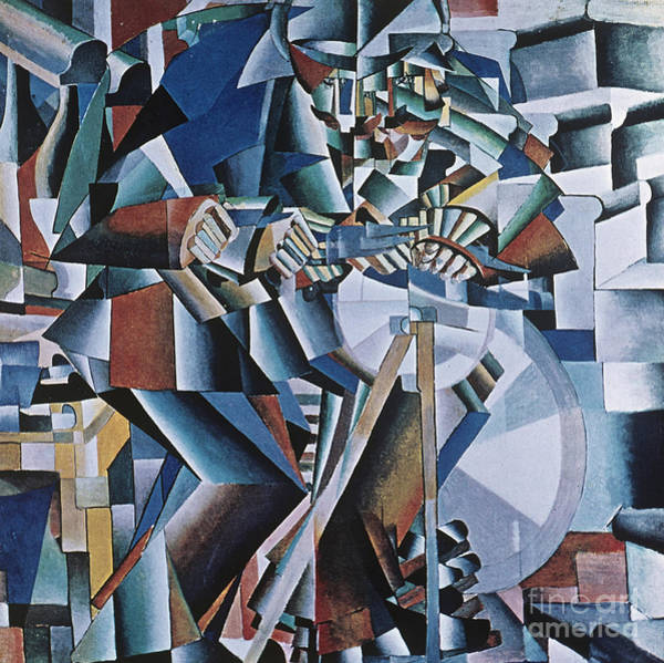 Machinery Painting - The Knife Grinder by Kazimir  Malevich