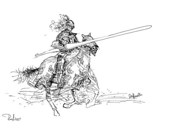 Drawing - The Knight by Raffaella Lunelli