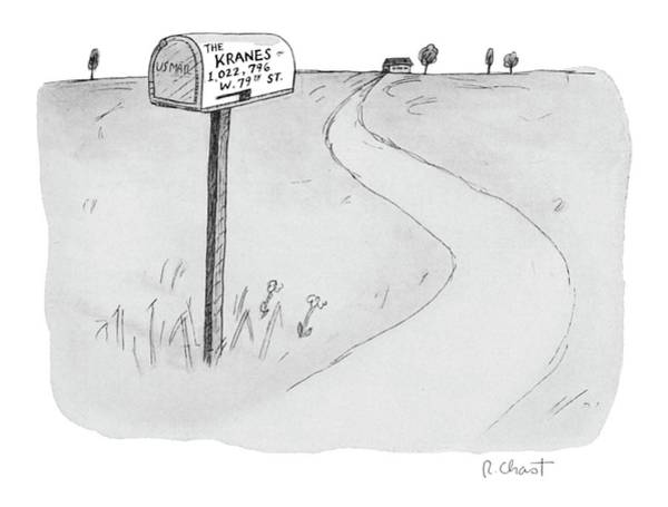 1 Drawing - 'the Kranes 1 by Roz Chast