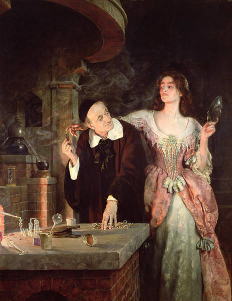 Experiment Painting - The Laboratory, 1895 by John Collier