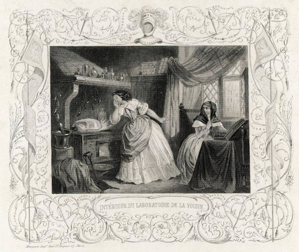 Black Magic Drawing - The Laboratory Of La Voisin, (catherine by Mary Evans Picture Library
