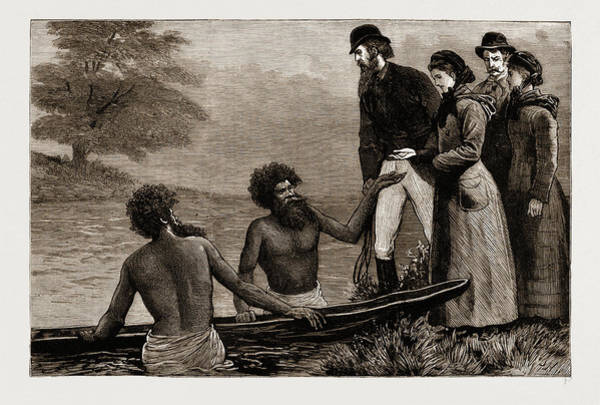 New South Wales Drawing - The Ladies Want To Cross A River, New South Wales by Litz Collection