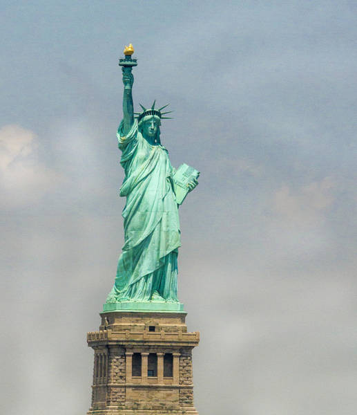 Statue Of Liberty National Monument Wall Art - Photograph - The Lady by Jean Noren