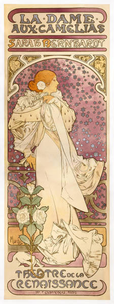 Alfons Mucha Painting - The Lady Of The Camellias by Celestial Images
