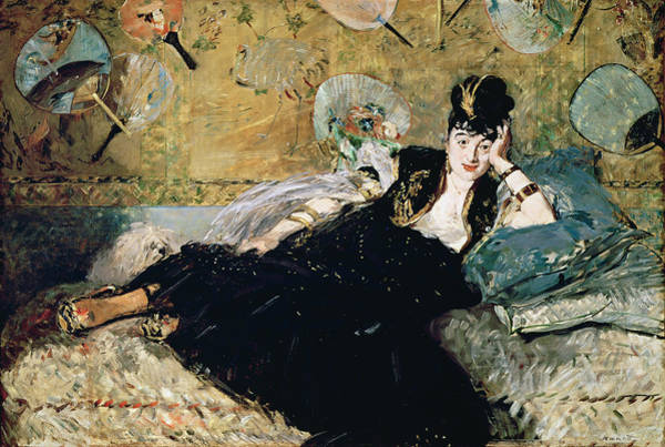 Wall Art - Painting - The Lady With Fans, Portrait Of Nina De Callias by Edouard Manet